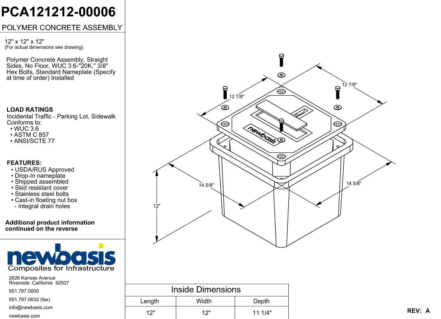 Newbasis Polymer Concrete Enclosure