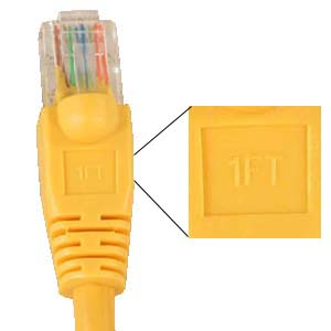 5 ICC ICPCSJ05YL Category 5E Patch Cord Molded Boot Yellow